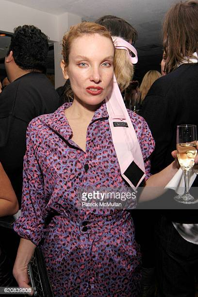 Rita Ackerman attends Whitney Biennial Artists Party at Trata Estiatoria on March 8 2008 in New York City