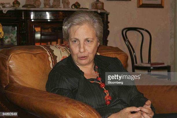 Rita Borsellino poses at her home in Palermo Sicily Tuesday November 1 She lives in the building in Via D'Amelio in front of which her brother the...