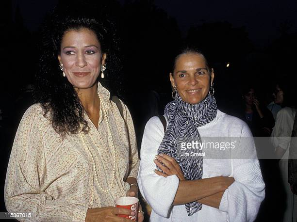 Rita Coolidge and Ali MacGraw during 'Cabaret' Opening at UCLA's Wadsworth Theater in Los Angeles California United States