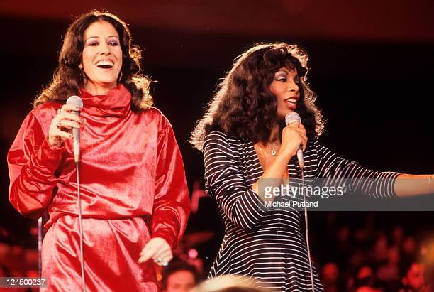 Rita Coolidge and Donna Summer perform at the Unicef concert United Nations New York 9th January 1979