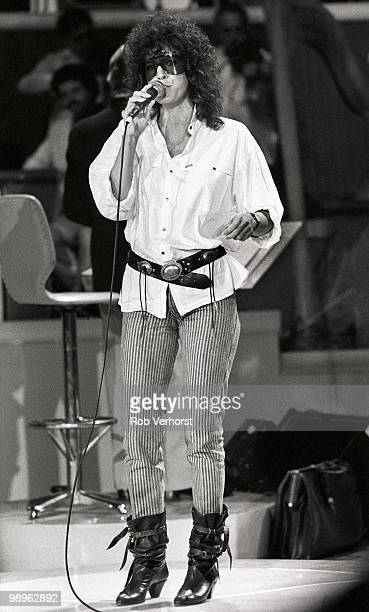 Rita Coolidge performs in rehearsals for AVRO's Platengala at Ahoy in Rotterdam Netherlands on October 12 1983