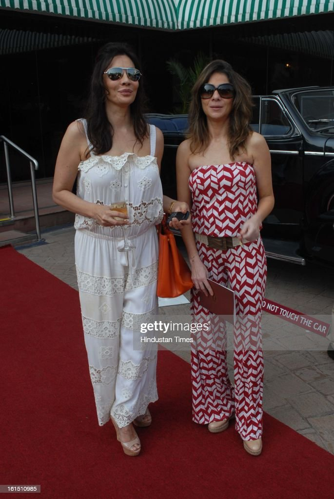 Rita Dhody and Haseena Jethmalani during Third Cartier Travel With Style Concours D'Elegance Vintage car show at 2013 Taj Lands End on February 10, 2013 in Mumbai, India.