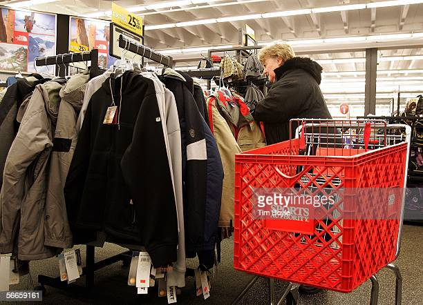 Rita Frese shops at a Sports Authority store January 24 2006 in Niles Illinois Sports Authority has announced that it has reportedly entered into an...
