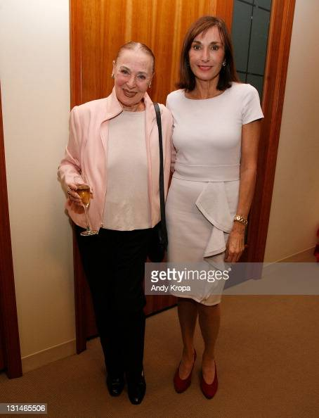 Rita Gam and Maguy Maccario attend a hosted VIP reception by Consul General of Monaco in New York Maguy Maccario for Champions of Peace and special...
