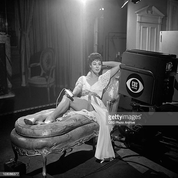 HOUR Rita Gam doing a commercial for an electric razor during 'Women of Hadley' Image dated January 25 1960
