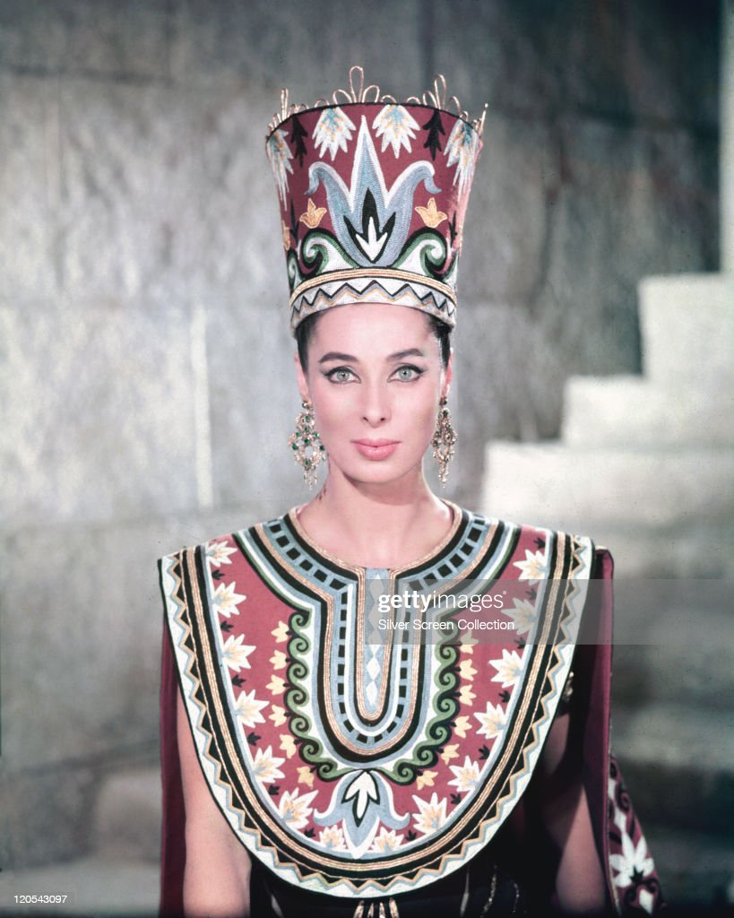 Rita Gam, US actress, in cotsume in a publicity portrait issued for an episode of the US television series, 'Ripley's Believe It or Not!', entitled 'The Secret of Nefertiti', circa 1949. The episode starred Gam as 'Nefertiti'.
