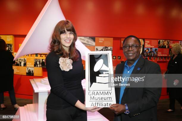 Rita George Chief Operating Officer of the Grammy Museum and President of Middle Tennessee State University Sidney A McPhee attends the Middle...