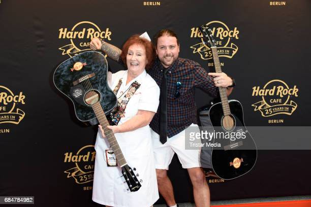 Rita Gilligan and Felix von Jascheroff attend the 25th anniversary celebration at Hard Rock Cafe Berlin on May 18 2017 in Berlin Germany