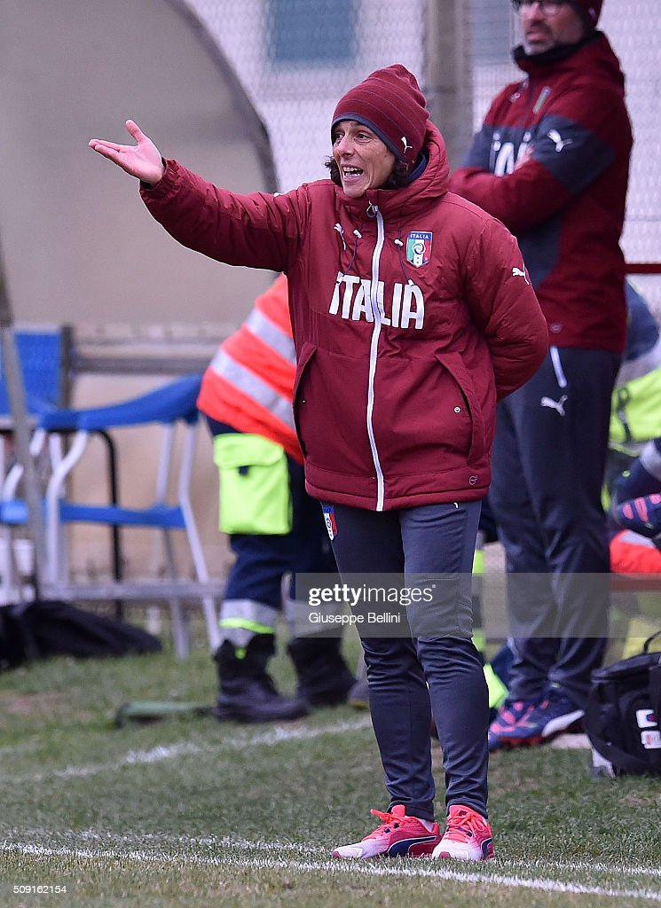 Rita Guarino head coach of Italy during the Women's U17 international friendly match between Italy and Norway on February 9, 2016 in Cervia, Italy.