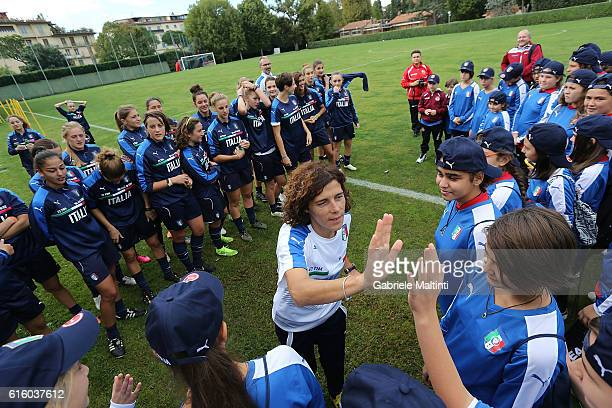 Rita Guarino manager of Italy U17 women's of FIGC during 'Azzurre Per Un Giorno' Italian Football Federation Event on October 21 2016 in Florence...