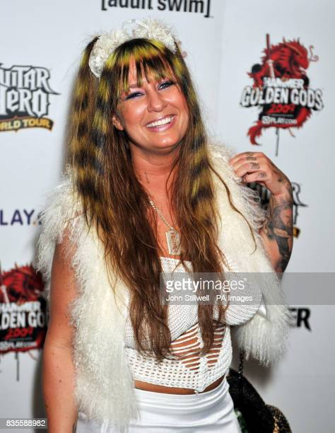 Rita Haney arrives at the Indigo concert venue for the Metal Hammer Golden Gods awards at the O2 Arena in Greenwich south East London