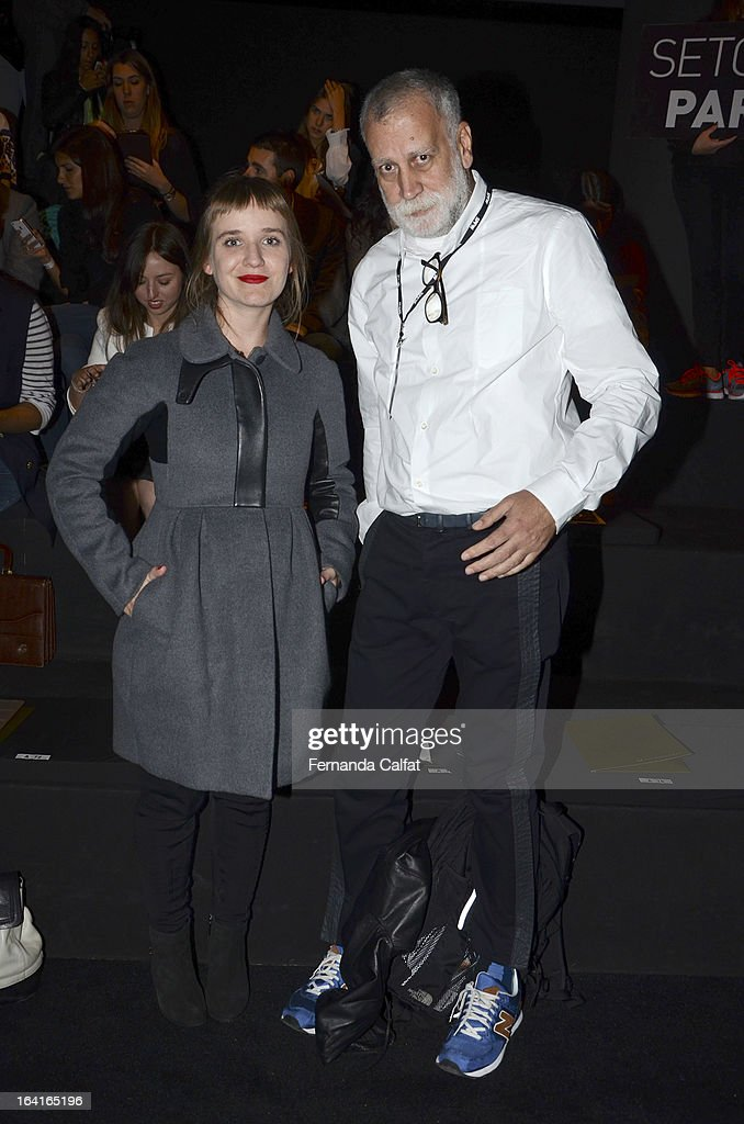 Rita Lazarotti and Paulo Martinez attends the Agua de Coco show during Sao Paulo Fashion Week Summer 2013/2014 on March 20, 2013 in Sao Paulo, Brazil.