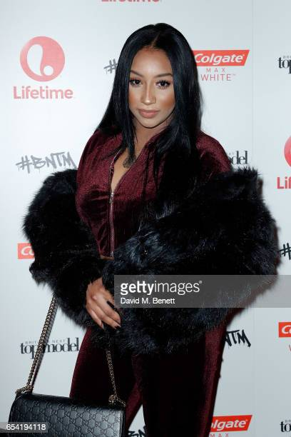Rita Mahrez attends LifetimeÕs launch of BritainÕs Next Top Model airing tonight at 9pm on Lifetime on March 16 2017 in London England