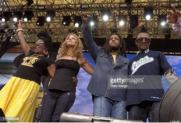 Rita Marley Fergie of Black Eyed Peas Stephen Marley and apldeap of Black Eyed Peas