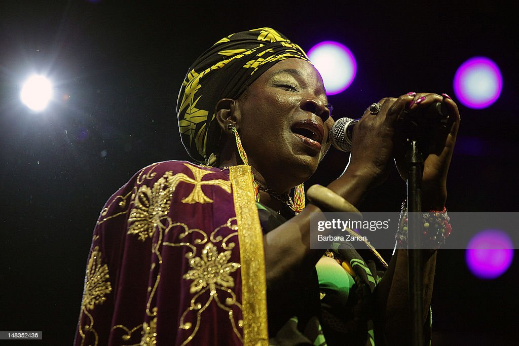 <a gi-track='captionPersonalityLinkClicked' href=/galleries/search?phrase=Rita+Marley&family=editorial&specificpeople=745253 ng-click='$event.stopPropagation()'>Rita Marley</a> performs on stage at Arena Santa Giuliana during Umbria Jazz Festival on July 14, 2012 in Perugia, Italy.