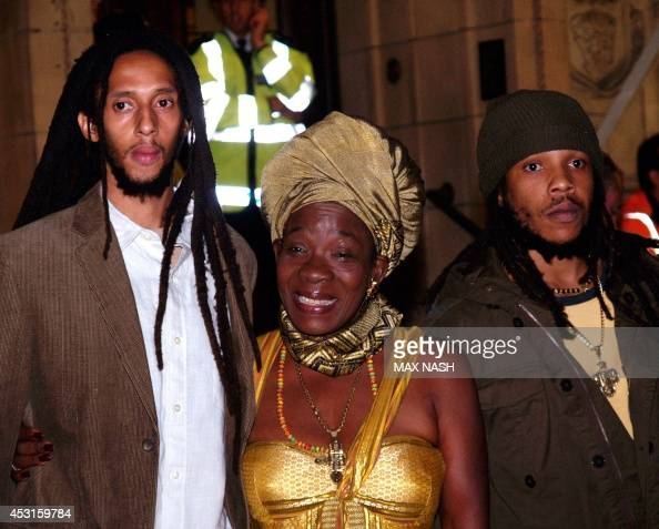 Rita Marley, the wife of Jamaican singer Bob Marley, poses ...