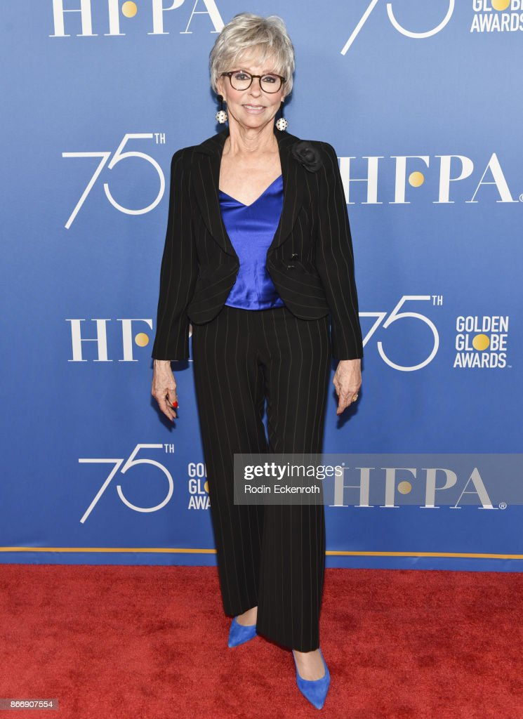 Rita Moreno attends the Hollywood Foreign Press Association Hosts Television Game Changers Panel Discussion at The Paley Center for Media on October 26, 2017 in Beverly Hills, California.