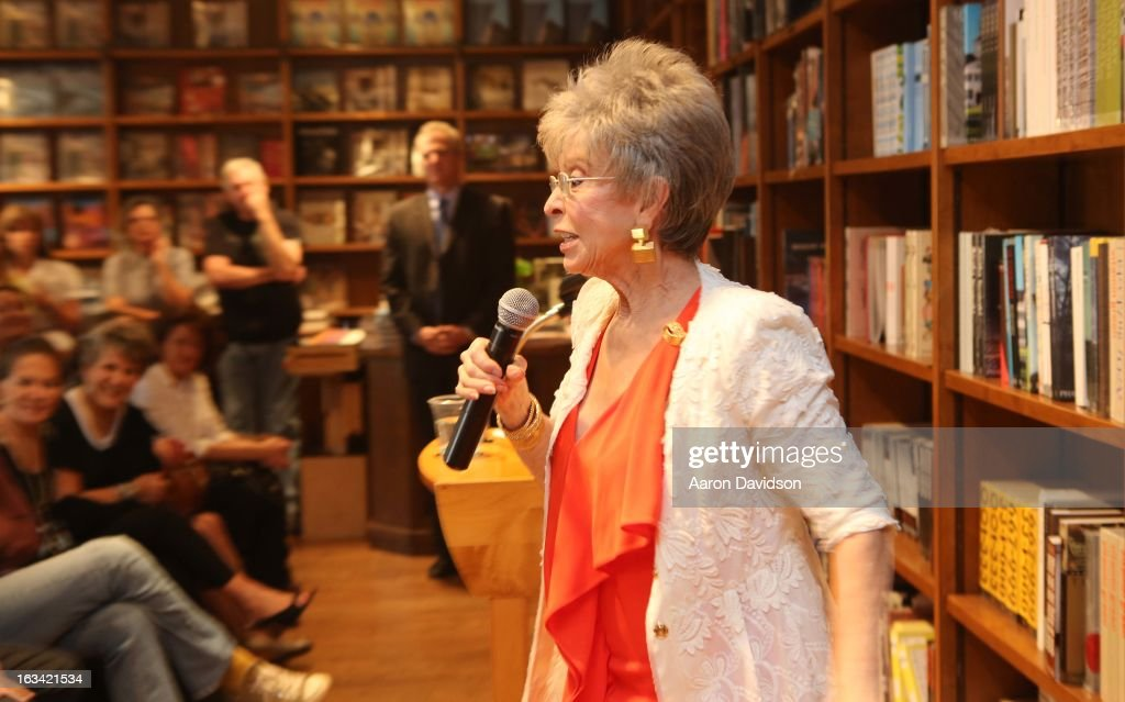 Rita Moreno greets fans and signs copies of her book 'Rita Moreno: A Memoir' at Books and Books on March 9, 2013 in Coral Gables, Florida.