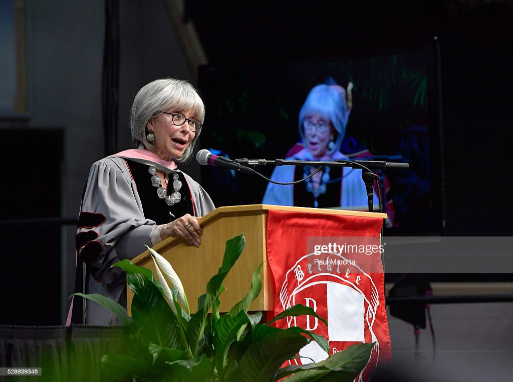 Rita Moreno receives an Honorary Doctor of Music Degree from Berklee College of Music and delivered the Commencement Address, a portionof which she delivered in the form of a Rap presentation, at Agganis Arena at Boston University on May 7, 2016 in Boston, Massachusetts. Honorary Doctor of Music Degrees were given to Rita Moreno, Milton Naschimento, the Isley Brothers and Lucian Grainge, and app 900 students from 68 countries were awarded degrees.