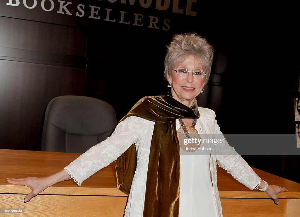 Rita Moreno signs copies of her new book 'Rita Moreno: A Memoir' at Barnes & Noble bookstore at The Grove on March 14, 2013 in Los Angeles, California.