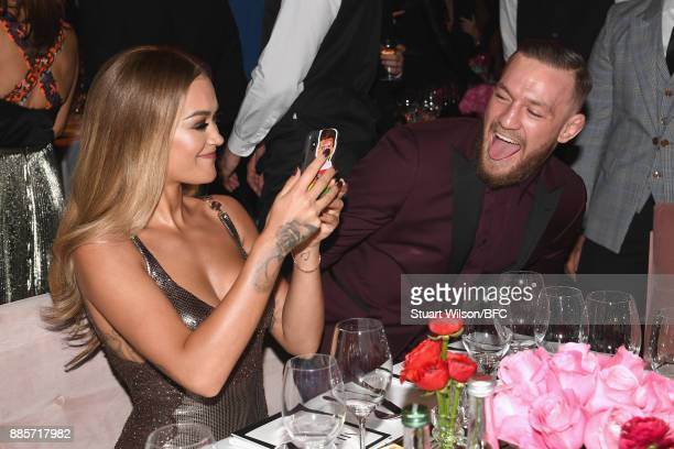 Rita Ora and Conor McGregor at The Fashion Awards 2017 in partnership with Swarovski at Royal Albert Hall on December 4 2017 in London England