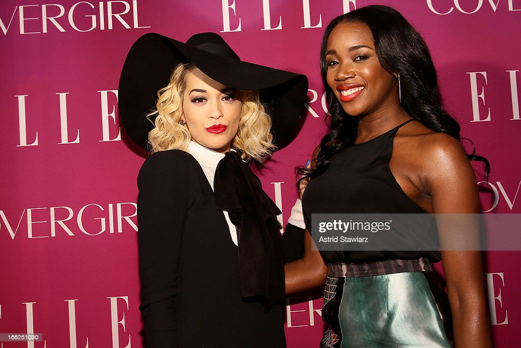 <a gi-track='captionPersonalityLinkClicked' href=/galleries/search?phrase=Rita+Ora&family=editorial&specificpeople=5686485 ng-click='$event.stopPropagation()'>Rita Ora</a> and DJ Kiss speak at the 4th Annual ELLE Women in Music Celebration presented by Covergirl at The Edison Ballroom on April 10, 2013 in New York City.