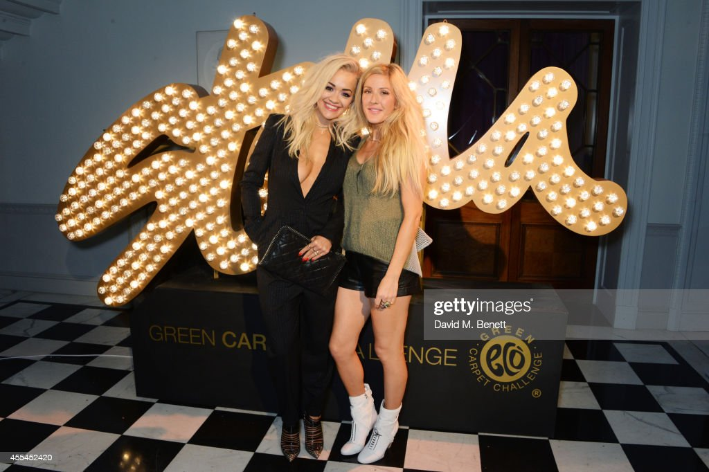 Rita Ora (L) and Ellie Goulding attend The London 2014 Stella McCartney Green Carpet Collection during London Fashion Week at The Royal British Institute on September 14, 2014 in London, England.