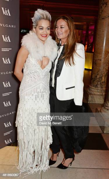 Rita Ora and Eva Cavalli attend a private dinner celebrating the Victoria and Albert Museum's new exhibition 'The Glamour Of Italian Fashion 1945...