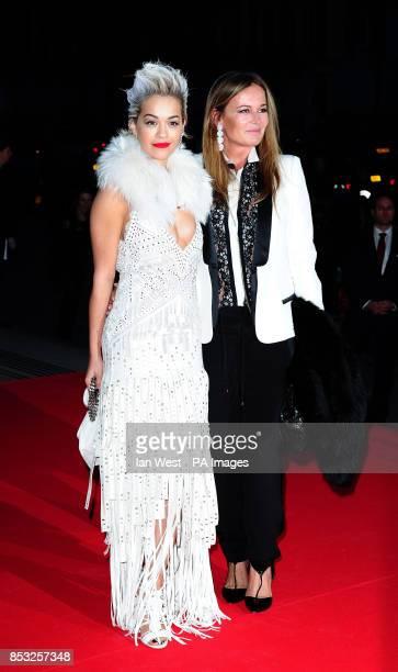 Rita Ora and Eva Cavalli attending The Glamour of Italian Fashion 19452014 private dinner at the Victoria Albert Museum London