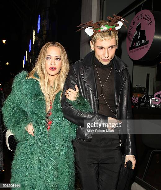 Rita Ora and Kyle De'volle at the Groucho Club on December 15 2015 in London England