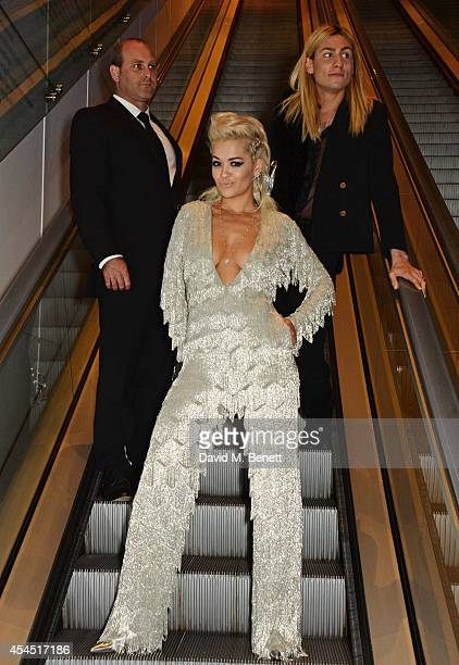 Rita Ora and Kyle De'volle attend an after party following the GQ Men Of The Year awards in association with Hugo Boss at The Royal Opera House on...