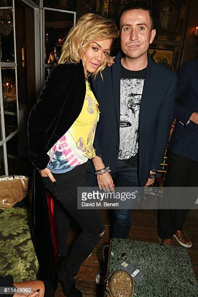 Rita Ora and Nick Grimshaw attend the JF London x Kyle De'Volle VIP dinner at Beach Blanket Babylon on September 29 2016 in London England