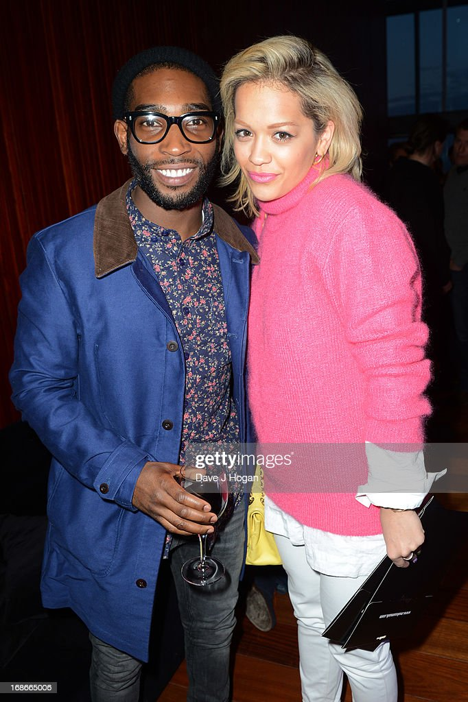 Rita Ora and Tinie Tempah attend a listening party for Daft Punk's new album 'Random Access Memories' at The Shard on May 13, 2013 in London, England.