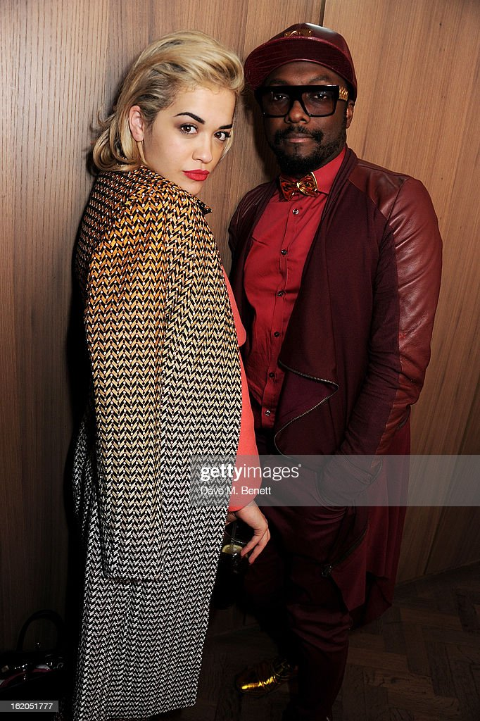 Rita Ora (L) and will.i.am attend the AnOther Magazine and Dazed & Confused party with Belvedere Vodka at the Cafe Royal hotel on February 18, 2013 in London, England.