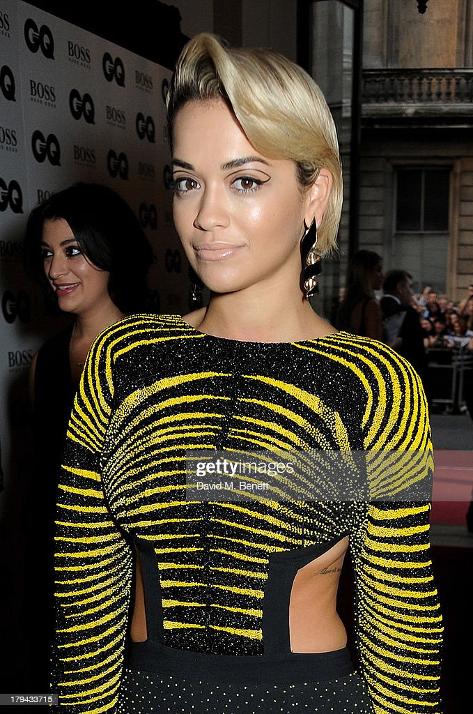 Rita Ora arrives at the GQ Men of the Year awards at The Royal Opera House on September 3, 2013 in London, England.