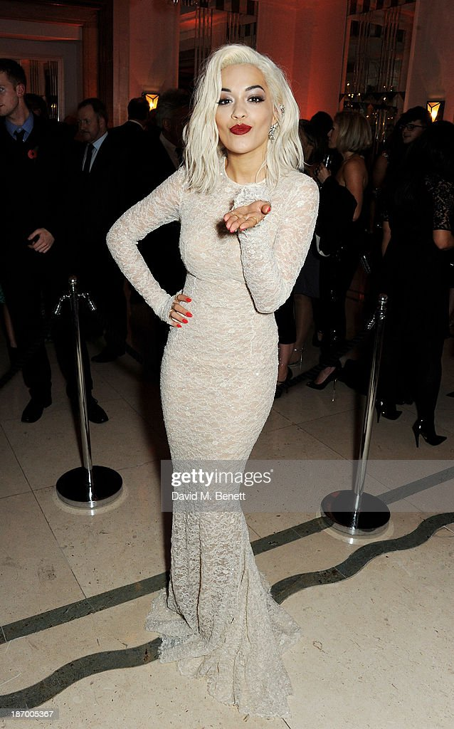 Rita Ora arrives at the Harper's Bazaar Women of the Year awards at Claridge's Hotel on November 5, 2013 in London, England.