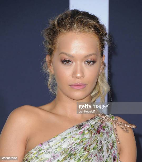 Rita Ora arrives at the Los Angeles premiere 'Fifty Shades Darker' at The Theatre at Ace Hotel on February 2 2017 in Los Angeles California