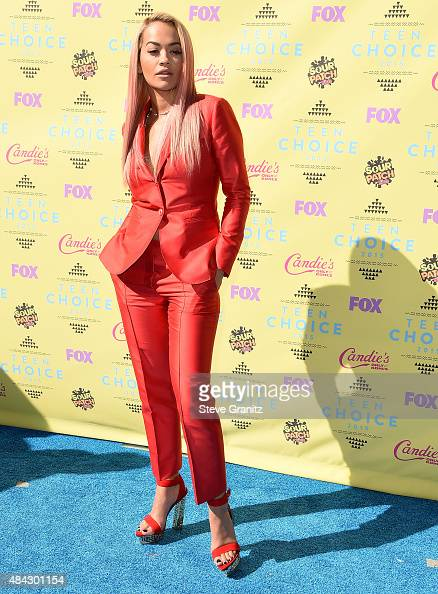 Rita Ora arrives at the Teen Choice Awards 2015 at Galen Center on August 16 2015 in Los Angeles California