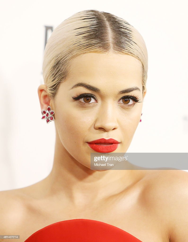 Rita Ora arrives at The Weinstein Company and Netflix Golden Globes afterparty held on January 11 2015 in Beverly Hills California
