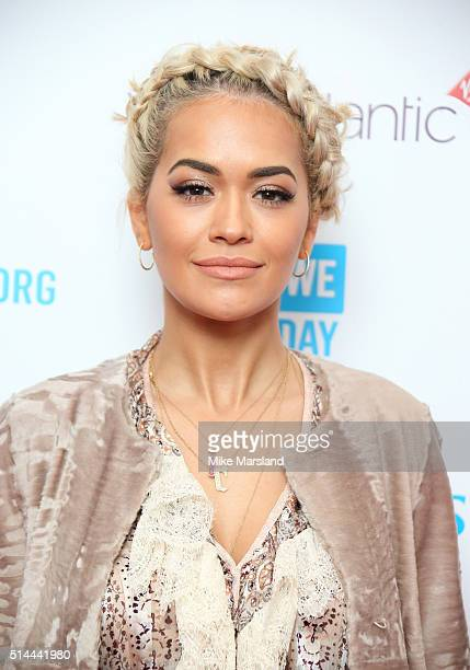 Rita Ora arrives for WE Day at SSE Arena on March 9 2016 in London England WE Day is a celebration of youth making a difference in their local and...