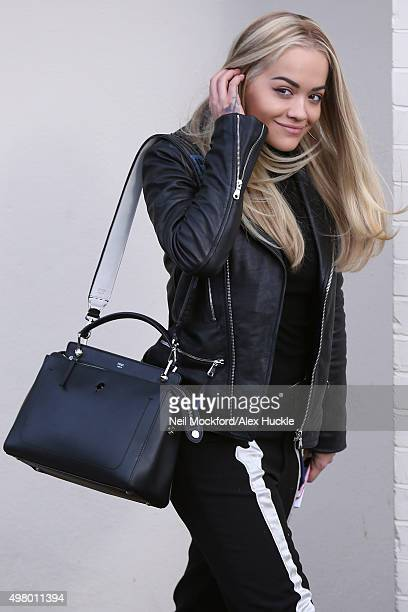 Rita Ora arriving at Fountain Studios for XFactor Rehearsals on November 20 2015 in London England