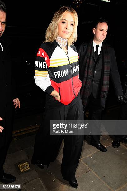 Rita Ora Arriving at the Ivy Chelsea Garden on November 23 2016 in London England