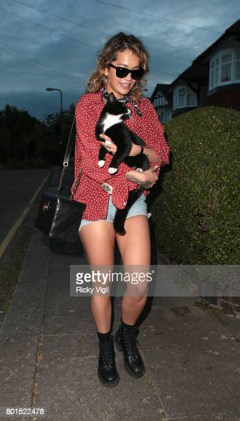 Rita Ora arriving home after dinner date with rumoured onoff boyfriend Andrew Watts at Chiltern Firehouse on June 26 2017 in London England
