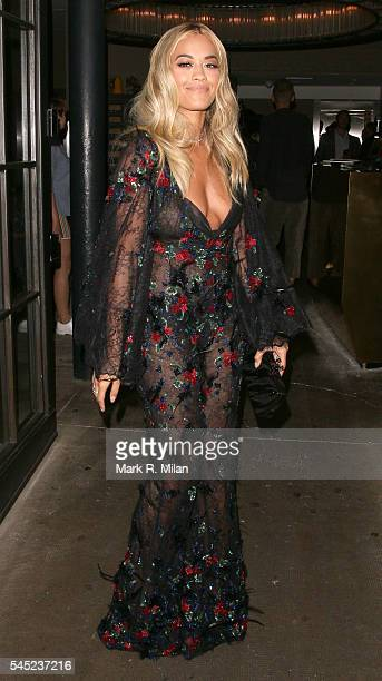 Rita Ora at Shoreditch House for the Warner Music Summer Party on July 6 2016 in London England