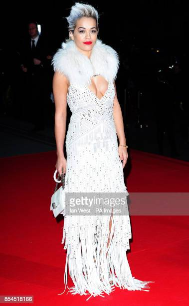Rita Ora attending The Glamour of Italian Fashion 19452014 private dinner at the Victoria Albert Museum London