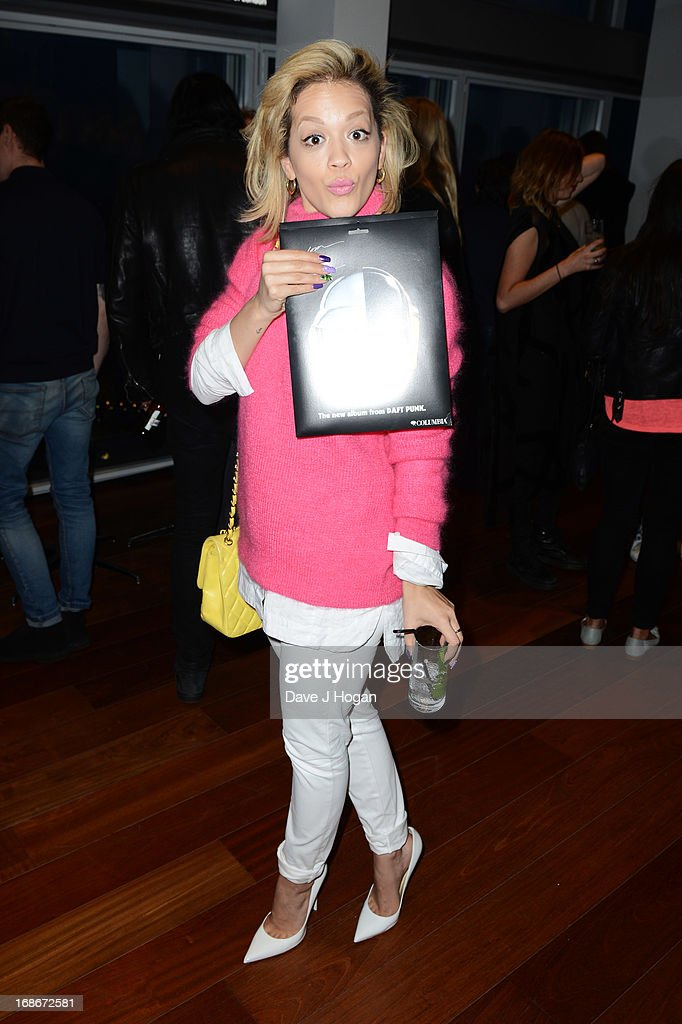 Rita Ora attends a listening party for Daft Punk's new album 'Random Access Memories' at The Shard on May 13, 2013 in London, England.