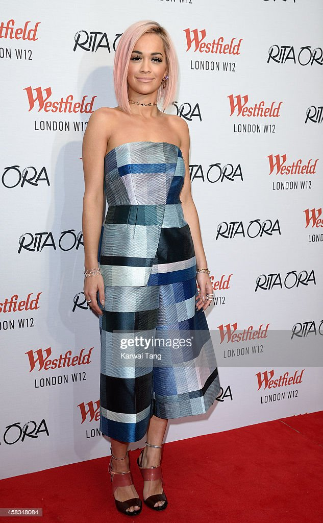 Rita Ora attends a photocall prior to switching on the Westfield London Christmas Lights at Westfield London on November 3, 2014 in London, England.