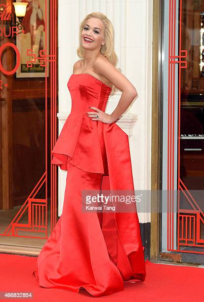 Rita Ora attends a photocall to celebrate 100 years of the iconic CocaCola bottle at the opening of the Contour Centenary Bar on March 19 2015 in...
