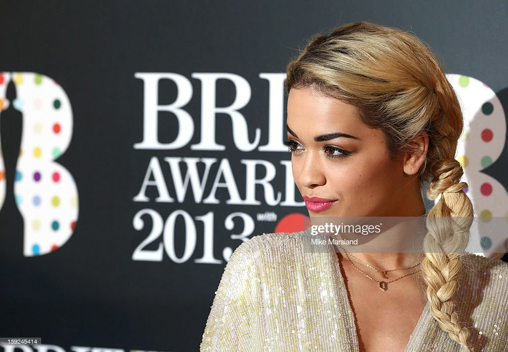 <a gi-track='captionPersonalityLinkClicked' href=/galleries/search?phrase=Rita+Ora&family=editorial&specificpeople=5686485 ng-click='$event.stopPropagation()'>Rita Ora</a> attends as the nominations for the BRIT Awards are announced at The Savoy Hotel on January 10, 2013 in London, England.