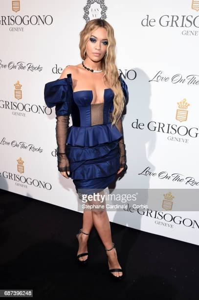 Rita Ora attends DeGrisogono 'Love On The Rocks' during the 70th annual Cannes Film Festival at Hotel du CapEdenRoc on May 23 2017 in Cap d'Antibes...